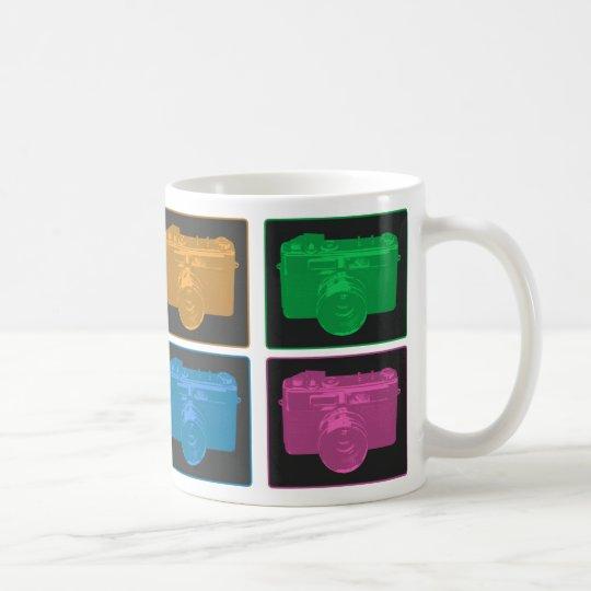 Four Pop Art Cameras Coffee Mug