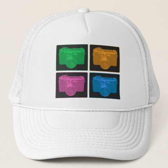 Four Pop Art Cameras Trucker Hat