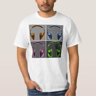 Four Pop Art Headphones T-Shirt