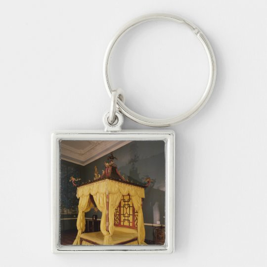 Four Poster Bed, in the Chinese style, 1750s Keychain