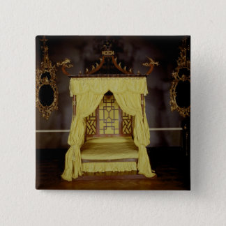 Four Poster Bed, in the Chinese style, 1750s Pinback Button