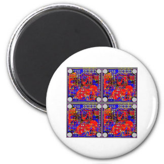 Four Printed Circuit Boards (PCB) Magnet