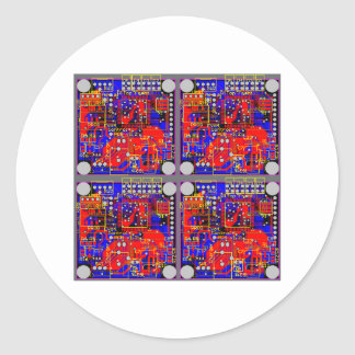 Four Printed Circuit Boards (PCB) Stickers