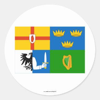 Four-Province Flag Round Sticker