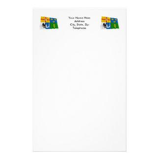 Four-Province Waving Flag Stationery