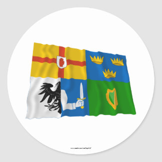 Four-Province Waving Flag Stickers