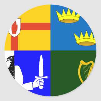 Four_Provinces_Flag Classic Round Sticker
