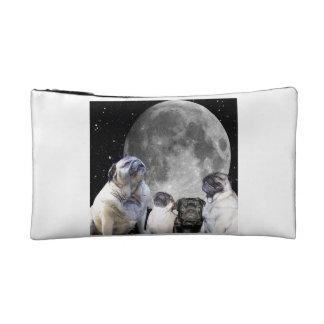 Four Pug Moon Cosmetic Bag