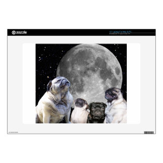 Four Pug Moon Laptop Skin