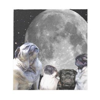 Four Pug Moon Pug Notepad