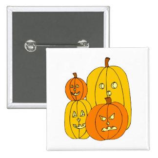four pumpkin jack o lantern graphic pins