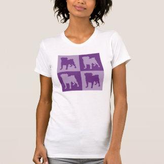 Four Purple Pugs Tees