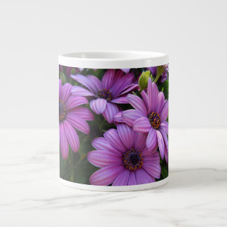 Four Purple Striped Daisies Giant Coffee Mug