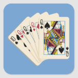 Four Queens - Poker Hand - Play To Win Charms Sticker