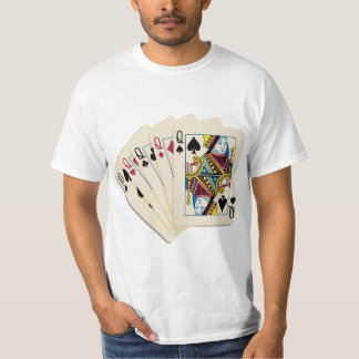 Four Queens - Poker Hand - Play To Win Charms T-Shirt