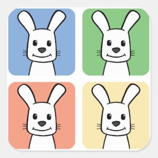 Four Rabbits Square Sticker