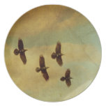 Four Ravens Flying Party Plates