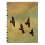 Four Ravens Flying Spiral Note Book