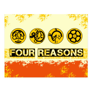 Four Reasons To Protect The Earth Post Cards