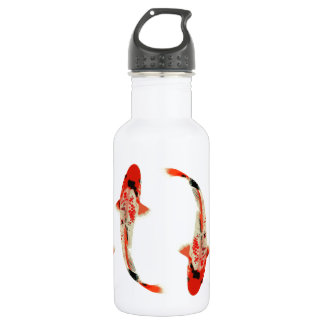 Four Red and White Koi 18oz Water Bottle