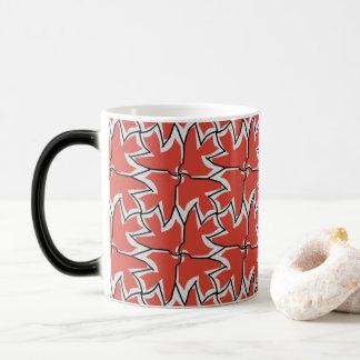 Four Red Birds Pattern Magic Mug