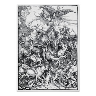 Four Riders of the Apocalypse - Albrecht Durer Poster