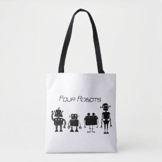 Four Robots Tote Bag