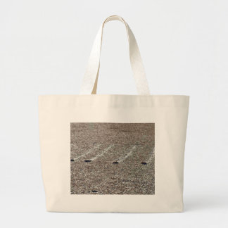 Four Rocks On Playa Mud Tracks Bags