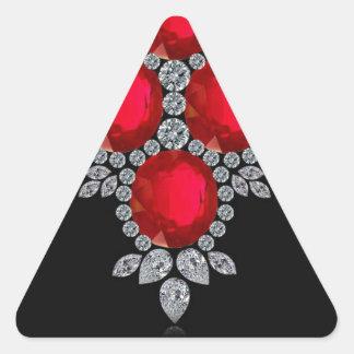 Four Rubies Triangle Sticker