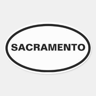 FOUR Sacramento Oval Sticker