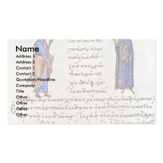 Four Saints By Byzantinischer Maler Um 1020 Double-Sided Standard Business Cards (Pack Of 100)