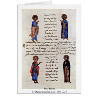 Four Saints By Byzantinischer Maler Um 1020 Greeting Card