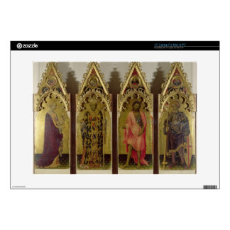 """Four Saints from the Quaratesi Polyptych: Mary Mag 15"""" Laptop Skin"""