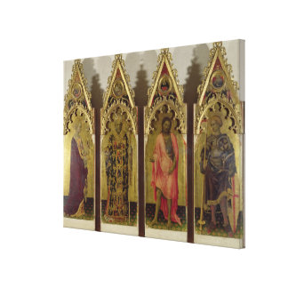 Four Saints from the Quaratesi Polyptych: Mary Mag Canvas Print