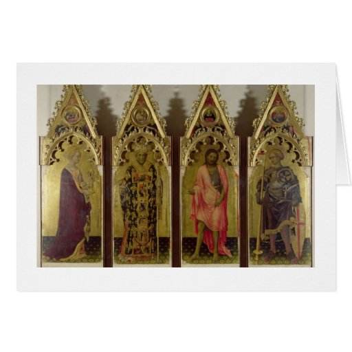 Four Saints from the Quaratesi Polyptych: Mary Mag Greeting Card