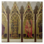 Four Saints from the Quaratesi Polyptych: Mary Mag Large Square Tile