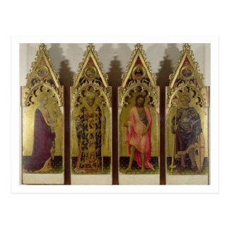 Four Saints from the Quaratesi Polyptych: Mary Mag Postcard