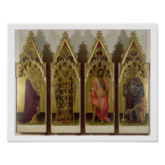 Four Saints from the Quaratesi Polyptych: Mary Mag Poster