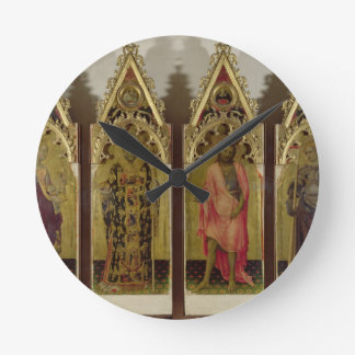 Four Saints from the Quaratesi Polyptych: Mary Mag Round Clock