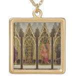 Four Saints from the Quaratesi Polyptych: Mary Mag Square Pendant Necklace