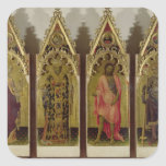 Four Saints from the Quaratesi Polyptych: Mary Mag Square Sticker