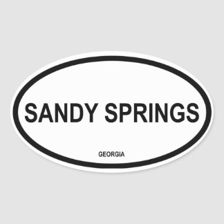 Four Sandy Springs Oval Sticker
