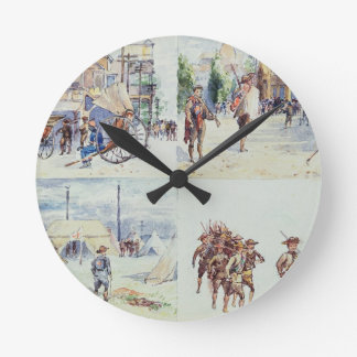 Four scenes from the Boer War, from a sketchbook, Round Clock