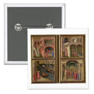 Four Scenes from the Life of St. Nicholas: St. Nic 2 Inch Square Button