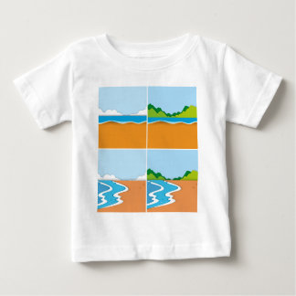 Four scenes of beach and ocean baby T-Shirt
