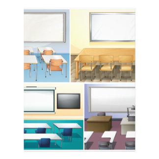 Four scenes of classroom letterhead