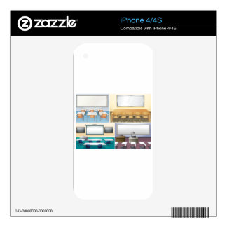 Four scenes of classroom skins for iPhone 4S