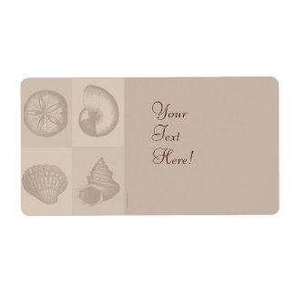 Four Sea Shells Label