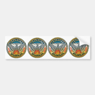 FOUR Seal of Atlanta Georgia Bumper Sticker