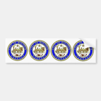 FOUR Seal of Houston Bumper Sticker